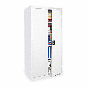 "Storage Cabinet, White, 78"" Overall Height"