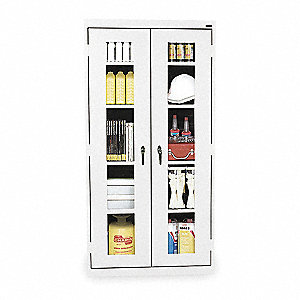 "Storage Cabinet, White, 72"" Overall Height"