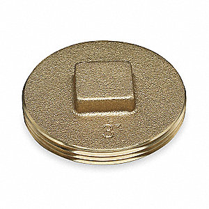 "2""   Cleanout Plug, Brass"