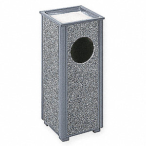 2-1/2 gal. Square Gray Ash/Trash Can