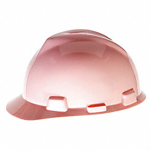Front Brim Hard Hat, 4 pt. Pinlock Suspension, Pink, Hat Size: 6-1/2 to 8