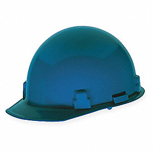 Hard Hat, 4 pt. Ratchet Suspension, Blue, Hat Size: 6-1/2 to 8""