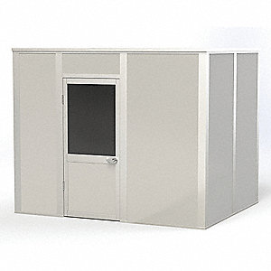 Modular In-Plant Office, 4-Wall, 10 ft. Width, 8 ft. Depth, 8 ft. Height