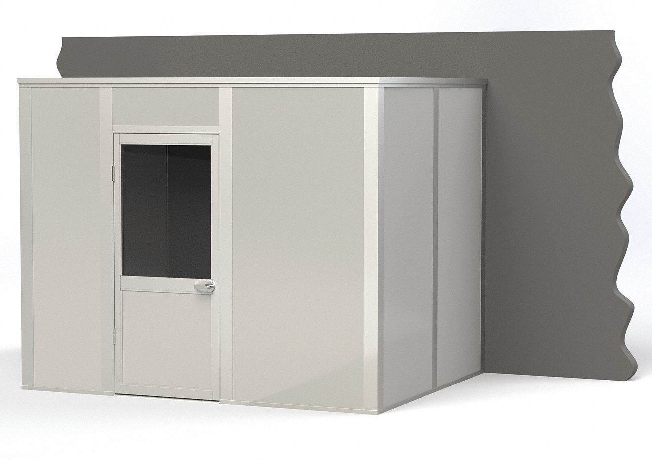 Modular In-Plant Office,  3-Wall,  10 ft. Width,  8 ft. Depth,  8 ft. Height