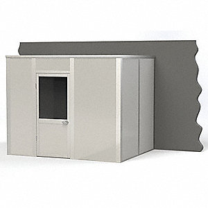 Modular InPlant Office,3-Wall,8x10,Steel