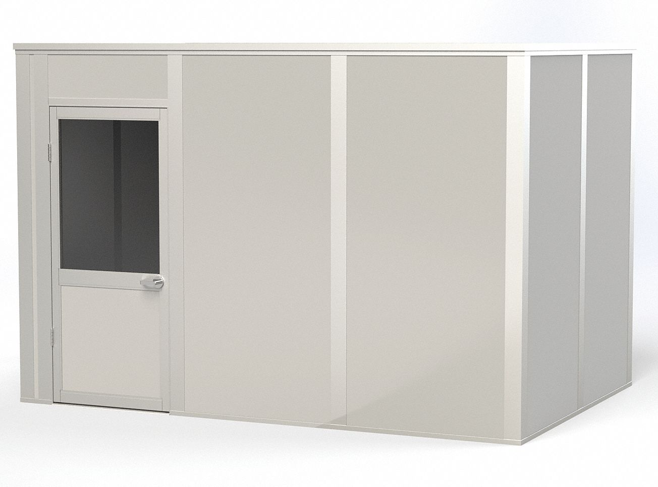Modular In-Plant Office,  4-Wall,  12 ft. Width,  8 ft. Depth,  8 ft. Height