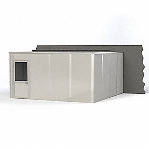 Modular In-Plant Office, 3-Wall, 16 ft. Width, 16 ft. Depth, 8 ft. Height