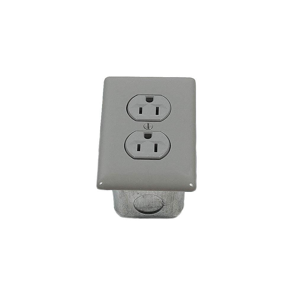 PORTA-KING Standard Duplex Outlet,No-Wire,115V,Gray - 3NYF5 ...
