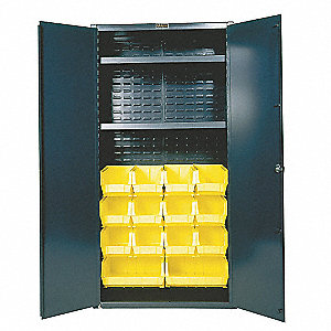 "Bin Cabinet, 72"" Overall Height, 36"" Overall Width, Total Number of Bins 14"
