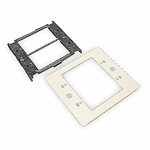 Steel Device Plate For Use With 4000 Raceway, Ivory