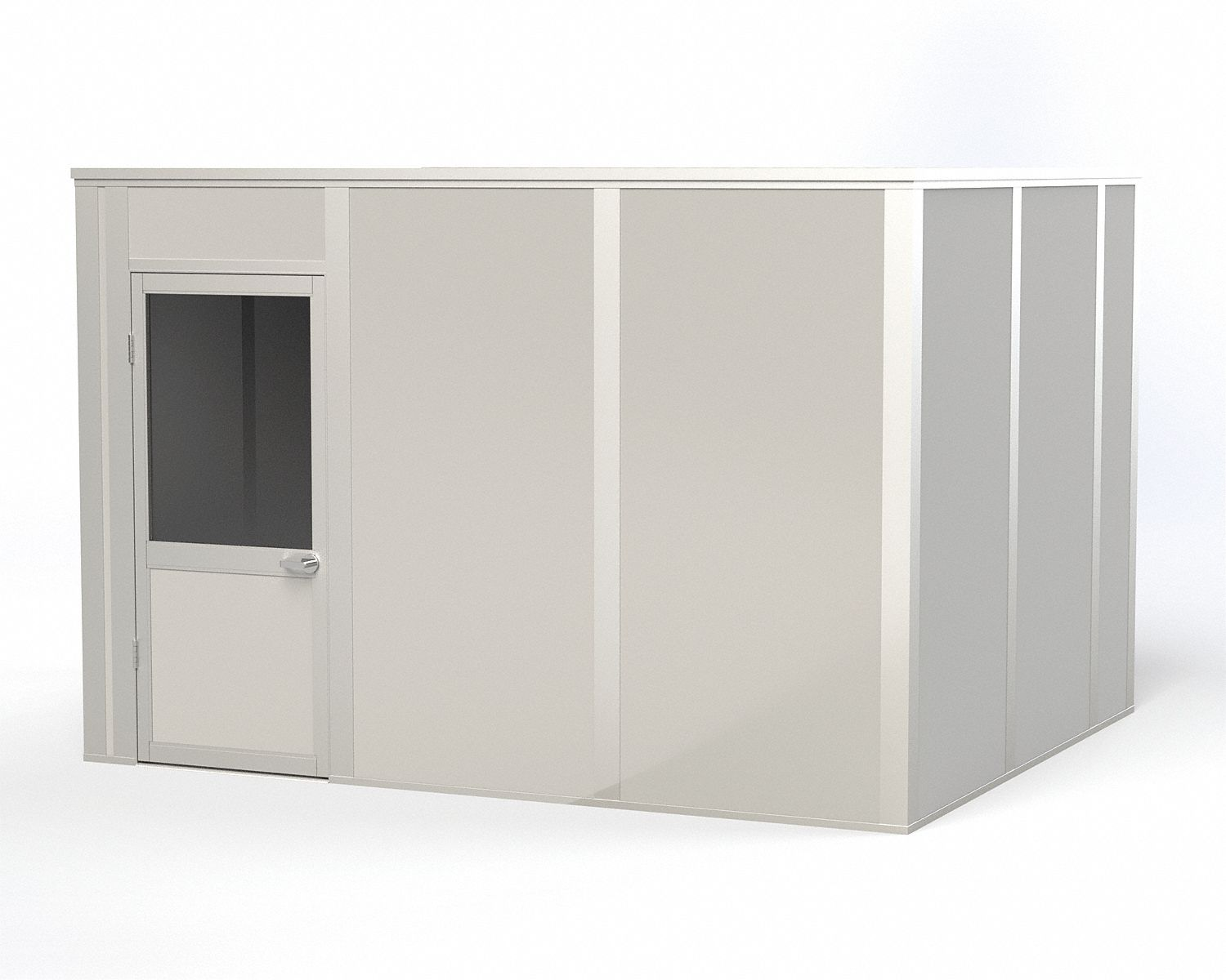 Modular In-Plant Office,  4-Wall,  12 ft. Width,  10 ft. Depth,  8 ft. Height
