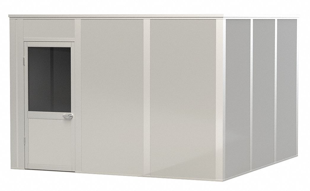 Modular In-Plant Office,  4-Wall,  12 ft. Width,  12 ft. Depth,  8 ft. Height