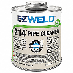 Pipe Cleaner, Clear, 32 oz., for PVC Pipe And Fittings
