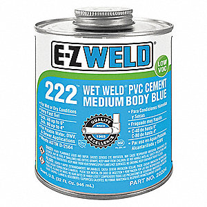 Cement, Blue, 32 oz., for PVC Pipe And Fittings