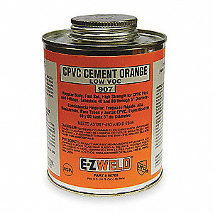 CPVC Cement, Orange, 16 oz., for CPVC Pipe And Fittings