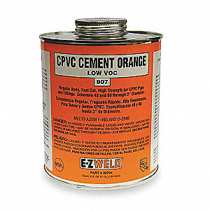 Orange Solvent Cement, Size 32, For Use With CPVC Pipe And Fittings