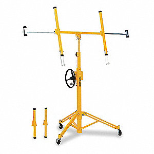 "Drywall Lift, 200 lb. Load Capacity, 64-1/2"" Lifting Height Min., 148"" Lifting Height Max."