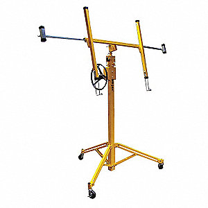 "Drywall Lift, 150 lb., Lifting Height Max. 144"", Lifting Height Min. 76"", Overall Height 144"""
