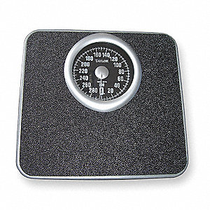 "Mechanical Bath Scale, 300 lb. Capacity, 11-1/2"" W x 10-13/16"" D"
