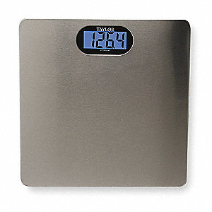 Taylor Digital Bath Scale 180kg 400 Lb Capacity 13 W X 1 1 2 D 3nzp8 74074102 Grainger