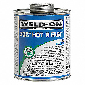 Cement, Blue, 16 oz., for PVC Pipe And Fittings
