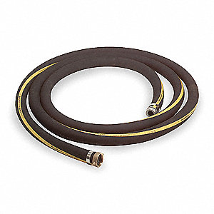 "20 ft. Black Water Suction Hose, 1-1/2"" Fitting Size, 150 psi"