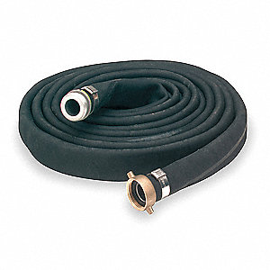 "25 ft. Black Water Discharge Hose, 4"" Fitting Size, 150 psi"