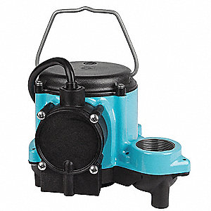 1/3 HP Submersible Sump Pump, Diaphragm Switch Type, Polypropylene Base Material