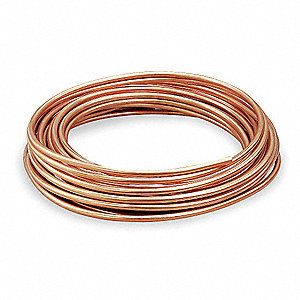 "60 ft. Soft Coil Type L Copper Tubing, 1/2"" Outside Dia., 0.430"" Inside Dia."