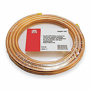 "50 ft. Soft Coil Copper Tubing, 1/2"" Outside Dia., 0.375"" Inside Dia."