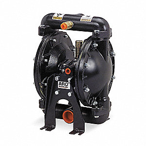 Aluminum Viton® Single Double Diaphragm Pump, 29 gpm, 50 psi