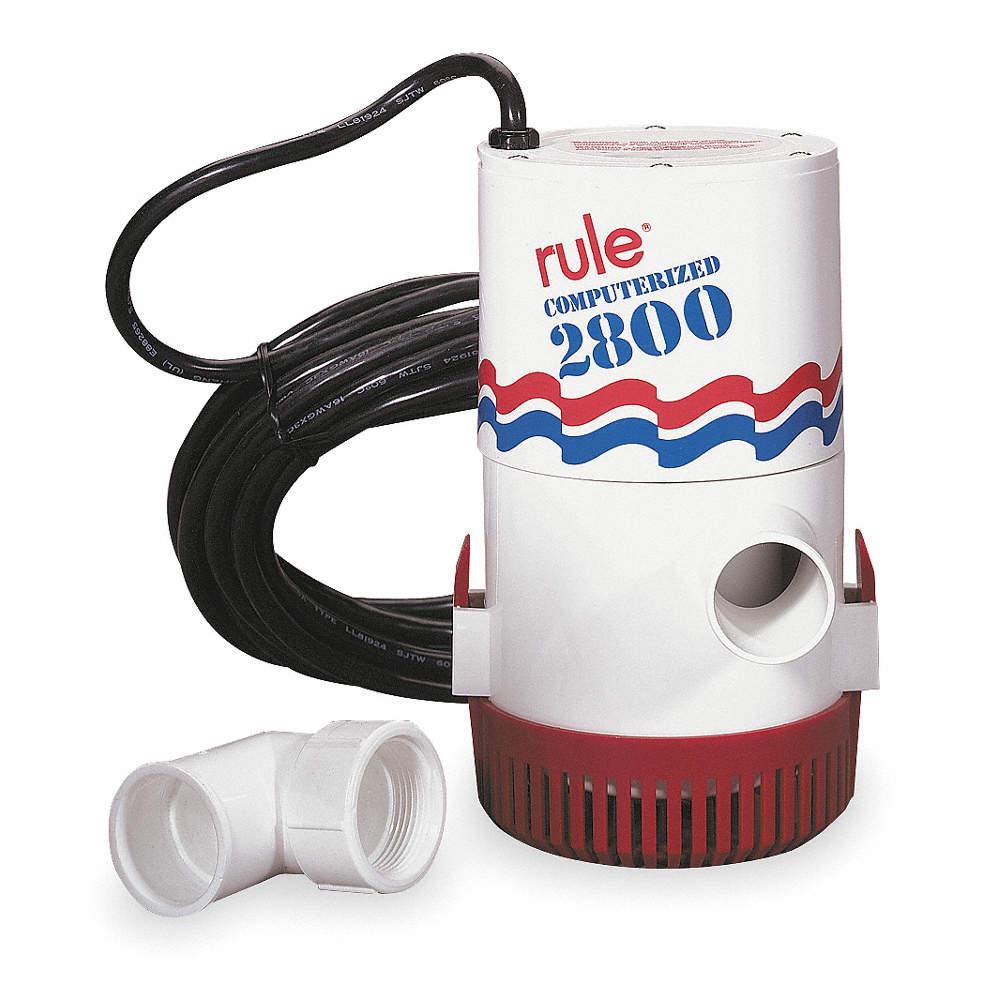 RULE 175W HP Computerized 115V Swimming Pool Cover Pump ...