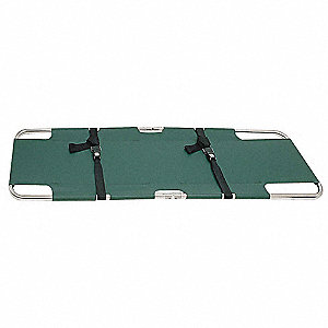 Folding Stretcher,350 lb.,74 In.,Green
