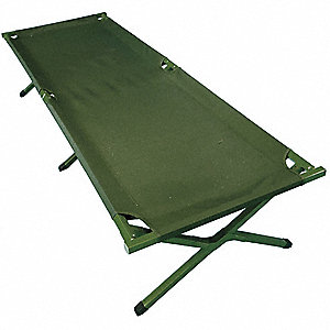 Fold Up Cot,Green,225 lb. Capacity