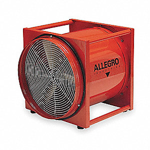 Axial Explosion Proof Confined Space Fan, 1/2 HP, 115VAC Voltage, 3450 rpm Blower/Fan Speed