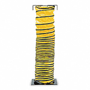 "15 ft. Blower Ducting with 12"" Dia., Black/Yellow; Use With Blower"