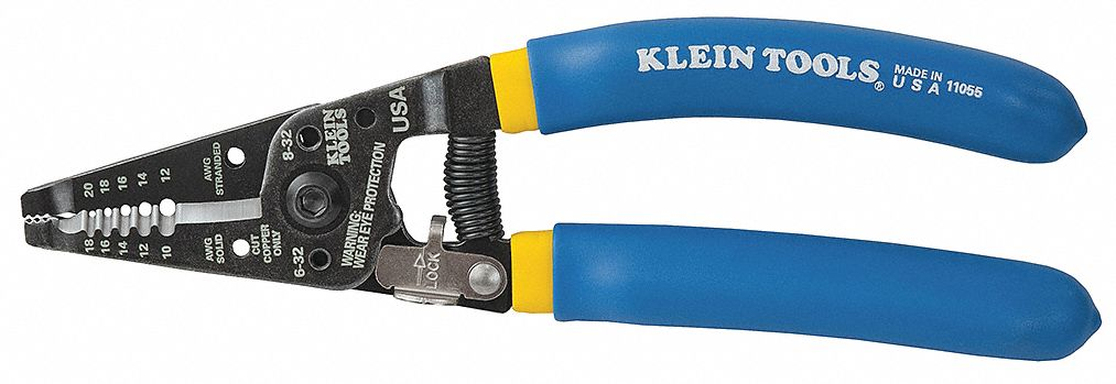 KLEIN TOOLS Wire Stripper,18 to 10 AWG,7-1/8 In - 3PB81|11055 ...