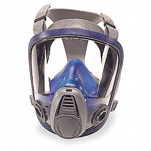 Bayonet Connection Full Face Respirator, European Style 4 Point Suspension, M