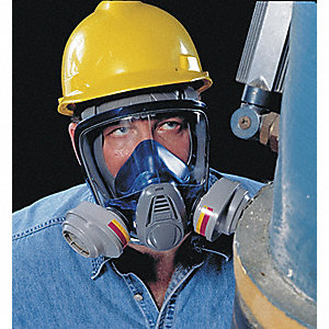 Bayonet Connection Full Face Respirator, European Style 4 Point Suspension, L
