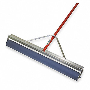 "36""W Roller Vinyl Floor Squeegee With Handle, Blue"