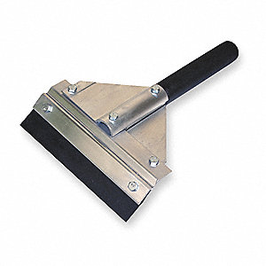 "8""W Straight Neoprene Bench Squeegee With Handle, Black"