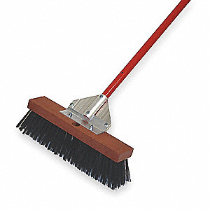 "Push Broom,Head and Handle,16"",Black"