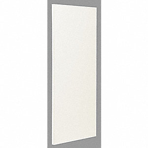 "Urinal Partition without Pilaster, Plastic Laminate, Almond, 18"" W X 42"" H"
