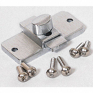 "Slide Latch for Polymer Partition, 2-1/2""H x 3-1/4""W x 1-1/2"" Thickness"
