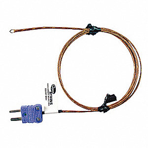 Mini T Thermocouple Immersion Temperature Probe, 32° to 752° Temp. Range (F)