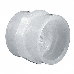 "3/4"" Female Adapter, Polypropylene, Max. Pressure 150 psi, White"