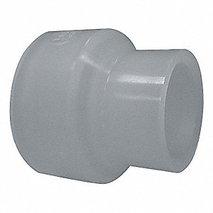 "2"" x 1-1/2"" Reducing Coupling, Polypropylene, Max. Pressure 150 psi, White"