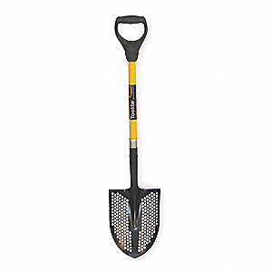 Mud/Sifting Round Point Shovel,29 In.