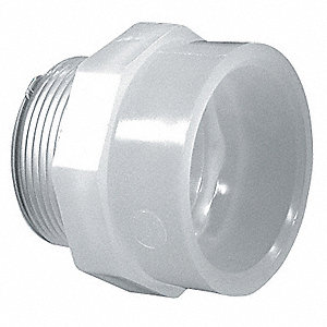 "3/4"" Male Adapter, Polypropylene, Max. Pressure 150 psi, White"