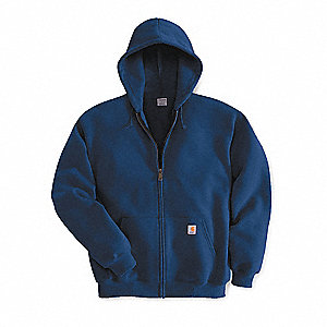 Hooded Sweatshirt,Navy,Cotton/PET,2XL